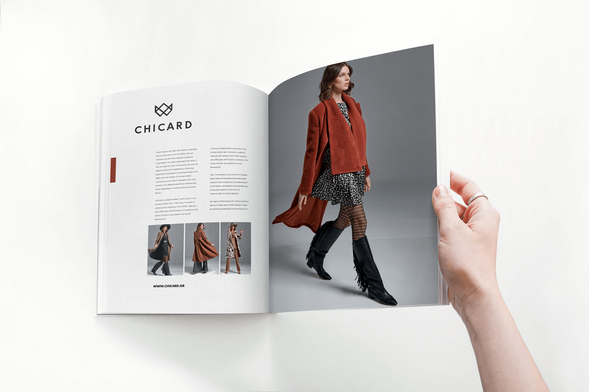 chicard wome's fashion magazine ad