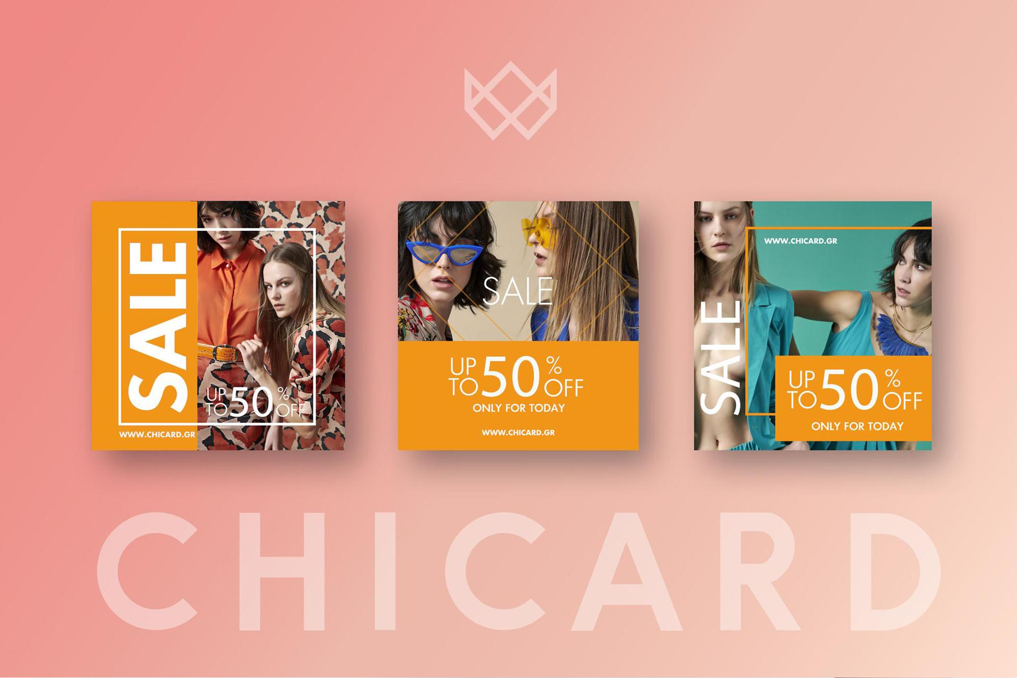 Chicard wome's fashion social media graphics