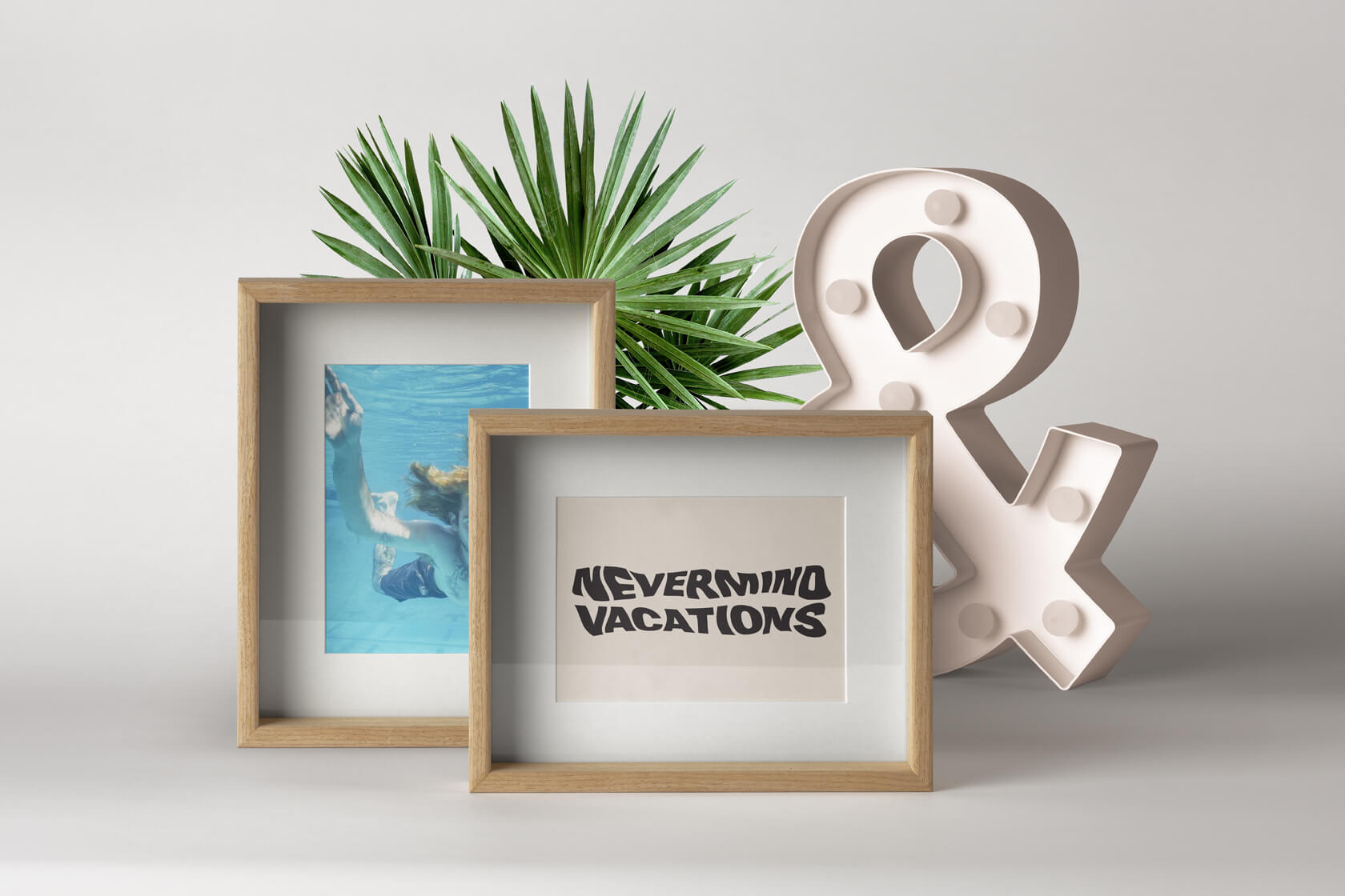 Nevermind Vacations frame logo