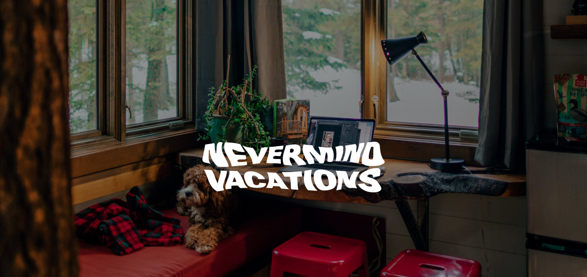 Nevermind Vacations banner logo