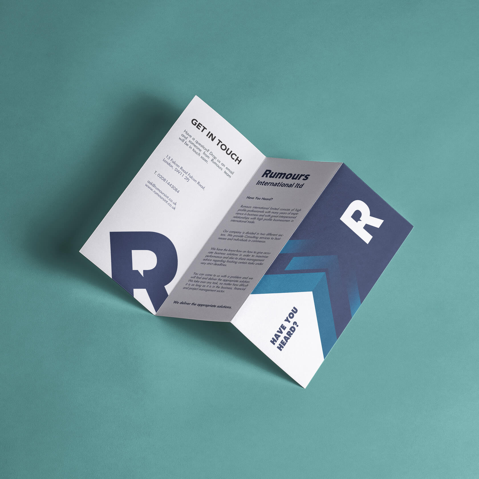 Rumours International consulting brochure