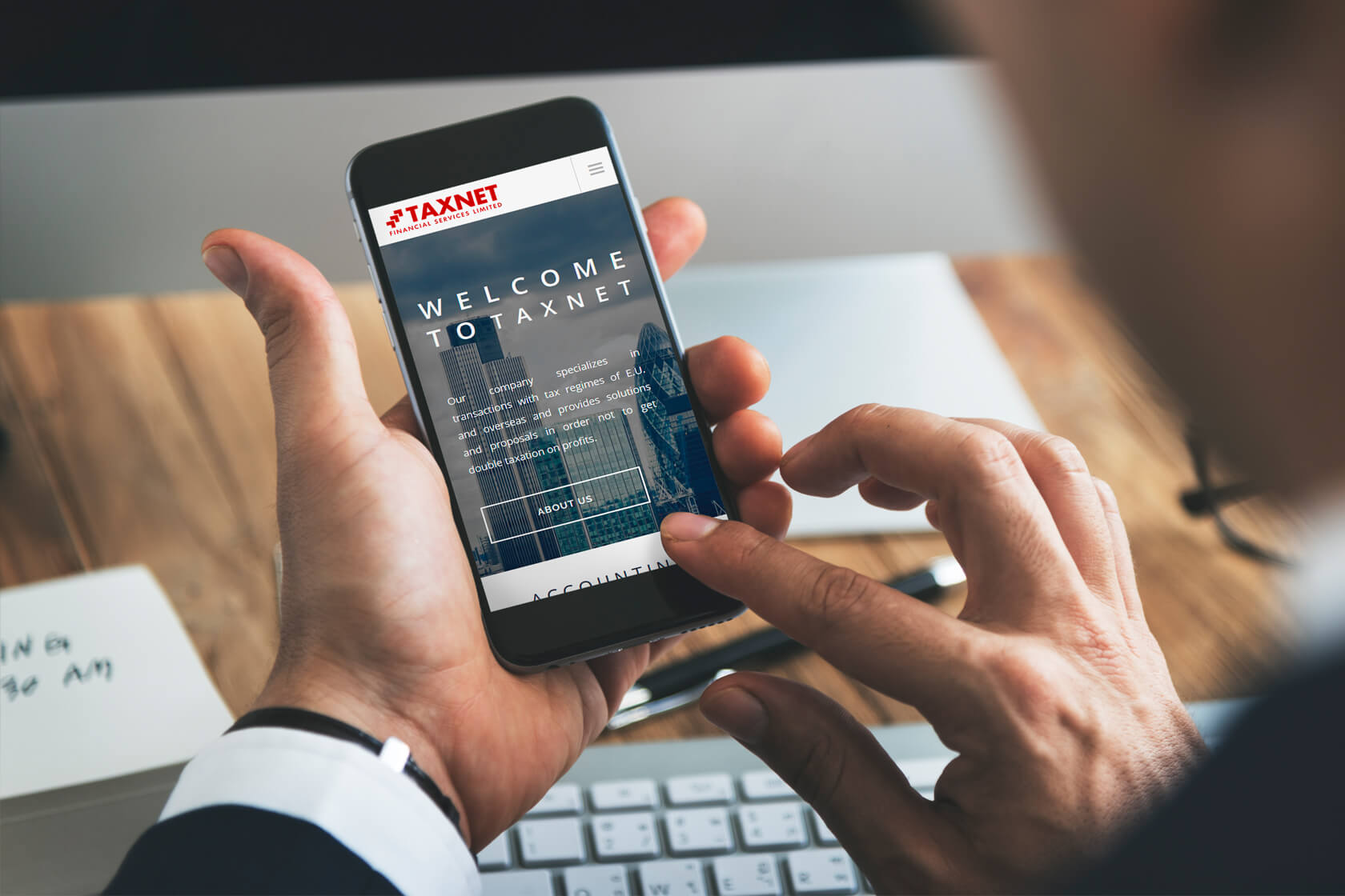 Taxnet Financial services responsive website